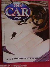 THE CAR MAG 1984 # 40 PROJECT THRUST RICHARD NOBLE LAMBORGHINI COUNTACH