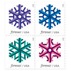 USPS New Geometric Snowflakes Forever Booklet of 20