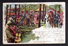 112325 AK Zörbig 1900 Gruss vom Fest Rummel Jahrmarkt lustige Leute beim Feiern