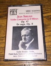 Jean Sibelius Violin Concerti In D Minor, Op 47 Eb Saga Op 9 Cassette New!