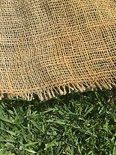 """BURLAP FABRIC JUTE MATERIAL 44"""" X 1YARD FOR CAMOUFLAGE GHILLE SUIT WEAPON CAMO"""