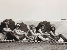 "*Postcard-""The 5 Pretty Girls with Umbrellas"" (#43)"