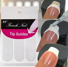 New 5xSheet Manicure Nail Art Form Fringe Sticker French Tips Polish DIY Stencil