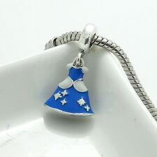 2pcs New paint European Silver CZ Charm Beads fit Necklace Bracelet Chain SQ208