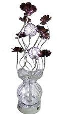 LARGE MODERN ALUMINIUM FLOWER / VASE DESIGN SILVER FLOOR TABLE LAMP LIGHT NEW
