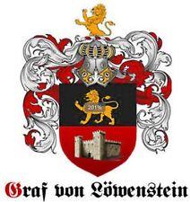 ✵ GRAF von LÖWENSTEIN Neu ADELSTITEL Wappen Diplom Urkunde Schlossanteil ✵