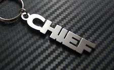 CHIEF Boss Leader Ruler Keyring Keychain Key Fob Bespoke Stainless Steel Gift