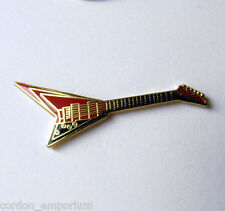 FLYING V MUSIC ROCK ELECTRIC GUITAR LAPEL PIN 1/2 inch