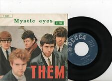 THEM 7'' PS Mystic Eyes Italy SUPER RARE GREEN VARIATION cover 45 Decca F12 281
