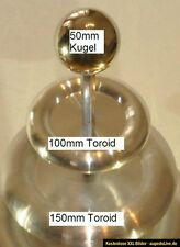 Toroid Set 100mm + 150mm, 50mm Kugel Top Load electrode SSTC Teslatrafo