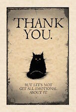 MAD OLD CAT LADY GREETING CARD: THANK YOU - NEW IN CELLO