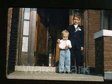1960s Kodachrome Photo slide Young Boys