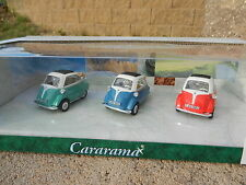 1:43 CARARAMA *ISETTA 250* 3 CAR SET = GREEN BLUE & RED *NIB*