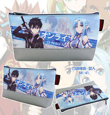 sword art online N02 anime canvas Cosmetic Bags pen pencil makeup stationery bag