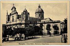 Cartolina Formato Piccolo - Bisacquino (Palermo) - Chiesa Madre E Municipio E Pi