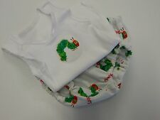 Baby Singlet and Nappy Diaper Cover - The Very Hungry Caterpillar - Newborn Size