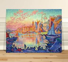 Paul Signac The Port of Saint Tropez  ~ FINE ART CANVAS PRINT 24x18""