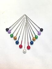 MIXED COLOURS OF CORSAGE BUTTONHOLE PINS, 144 PINS 40mm