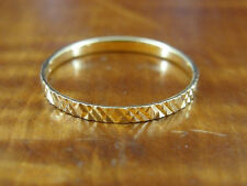 Band with Texture Gold Vermeil over Sterling Silver 925 Ring Size 9 3/4