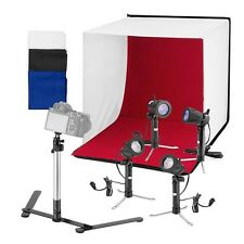 "Square Perfect 24"" Folding Photo Box Tent LED Light Table Top Photography Studio"
