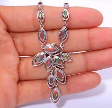 """Noble ! Orange Fire Opal Women Jewelry Gems Silver Necklace Pendant 16""""-18"""" OL45"""