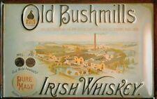 Blechschild Old Bushmill's Irish Whiskey Fabrik Whisky neu Werbeschild Schild