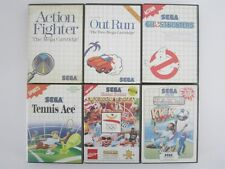 LOT 5 jeux GHOSTBUSTERS OUT RUN KICK OFF OLYMPIC GOLD TENNIS pour MASTER SYSTEM