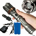 2000Lumen LED Zoom Flashlight Torch Rechargeable with 18650 Battery and Charger