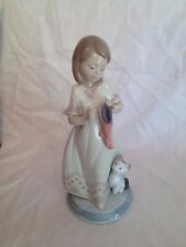 Lladro Night Before Christmas #6669 ~ A Stocking for Kitty  MIB ~ Girl w/ Cat