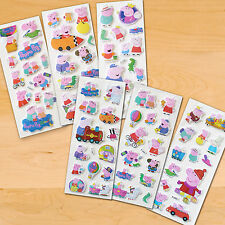 10 Packs of  Peppa Pig Reusable Party Bag Stickers -  for party loot bag or gift