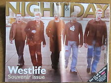 NIGHT & DAY MARCH 2001 WESTLIFE SOUVENIR ISSUE/Sunday Mail/pop music/collectable