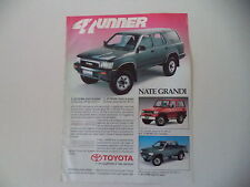 advertising Pubblicità 1991 TOYOTA 4 RUNNER/HILUX/LJ 70 TD