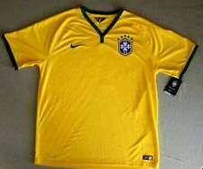 Nike mens $90 Authentic 2014 World Cup Soccer Jersey Brazil Brasil Yellow sz XL