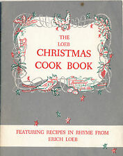 """Erich Loeb """"Recipes in Rhyme"""" Christmas Cook Book, 12 Pages, Decorated"""