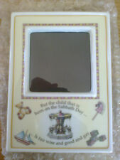 Royal Worcester Picture Frame Born Sunday Sabbath Christening Gift Present