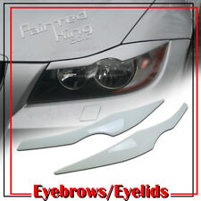 BMW E90 eyelids/eyebrow Headlight Cover 06-11 Painted White #300