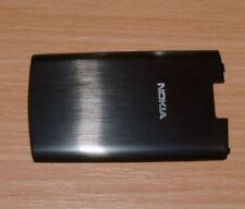 Genuine Original Nokia X3-02 Battery Cover Black Metal Steel