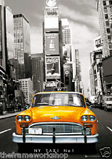 NEW YORK TAXI NUMBER ONE - 3D MOVING PICTURE POSTER 300mm X 400mm (NEW)