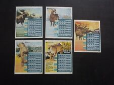 5 - 1996 CONNECTICUT SV SAMPLE LOTTERY TICKETS - WILD GAME - WILD ANIMALS