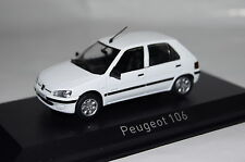 PEUGEOT 106 Electric 1997 BIANCO 1:43 Norev NUOVO & OVP 471061