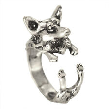 Adjustable Handmade Corgi Ring Animal Wolf Ring Forest Fashion for Women