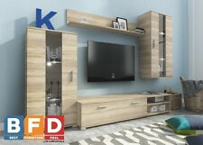 Modern Living room Furniture Set LED TV Unit Stand Wall Mounted Cabinet Cupboard
