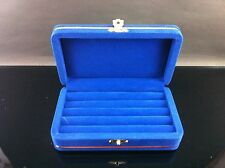 Blue Big Velvet Ring Box Jewelry Flock Jewelry Box ,For Gift,Made in Thailand
