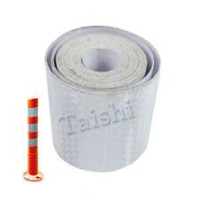 Neu 1 Roll 3m Auto Reflexstreifen Reflexfolie Selbstklebend Aufkleber Siber Weiß