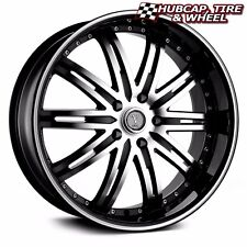 "VELOCITY VW865A BLACK MACHINED 22""X8 CUSTOM WHEELS RIMS (set 4) FREE US SHIP"