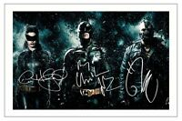 CHRISTIAN BALE TOM HARDY ANNE HATHAWAY THE DARK KNIGHT RISES SIGNED PHOTO PRINT