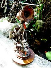 WallE Robot out of Welded Junk, repurposed metal sculpture Cathedral of Junk