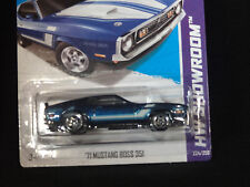 HW HOT WHEELS 2013 HW SHOWROOM #224/250 '71 FORD MUSTANG BOSS 351 HOTWHEELS BLUE