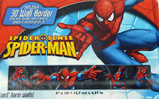 "Marvel  3D Spider-Man ~ Removable Self-Stick 3D Wallpaper Border ~ 5"" x15' ~ NIP"
