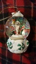 Disney Store Nightmare Before Christmas Mini Snowglobe Ornament Santa Jack 2000